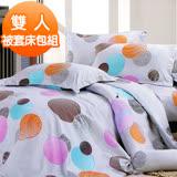【J-bedtime】雙人四件式雲絲絨被套床包組-幸福約定(任)