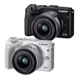 Canon EOS M3 15-45mm KIT 單鏡組 公司貨 - 送64G+彩框多層鍍膜UV保護鏡(顏色隨機)+相機包+讀卡機+清潔組+保貼+金屬頭吹球+防潮箱+LENSPEN