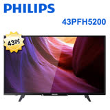 Philips飛利浦 43型液晶顯示器附視訊盒 43PFH5200