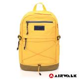 AIRWALK - 極簡自在 休閒大容量筆電後背包-黃