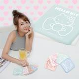 【三麗鷗獨家授權】Hello Kitty超Q愛喝水珪藻土杯墊(2入組)
