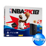 PS4 Pro 7017系列1TB NBA 2K18同捆組+DOBE座充+黑色手把果凍套*2