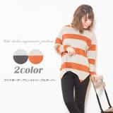 日本ANNA LUNA 預購-不規則下擺造型條紋上衣(共二色/M-3L)