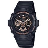 CASIO 卡西歐 G-SHOCK街頭潮流休閒錶 玫瑰金 AW-591GBX-1A4