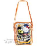 〔小禮堂〕Hello Kitty x 台鐵 繪本組附透明斜背包《橘.列車頭.12色色鉛筆》太魯閣號第二彈