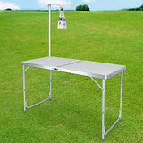【LIFECODE】007鋁合金箱型行動折疊桌-送燈架