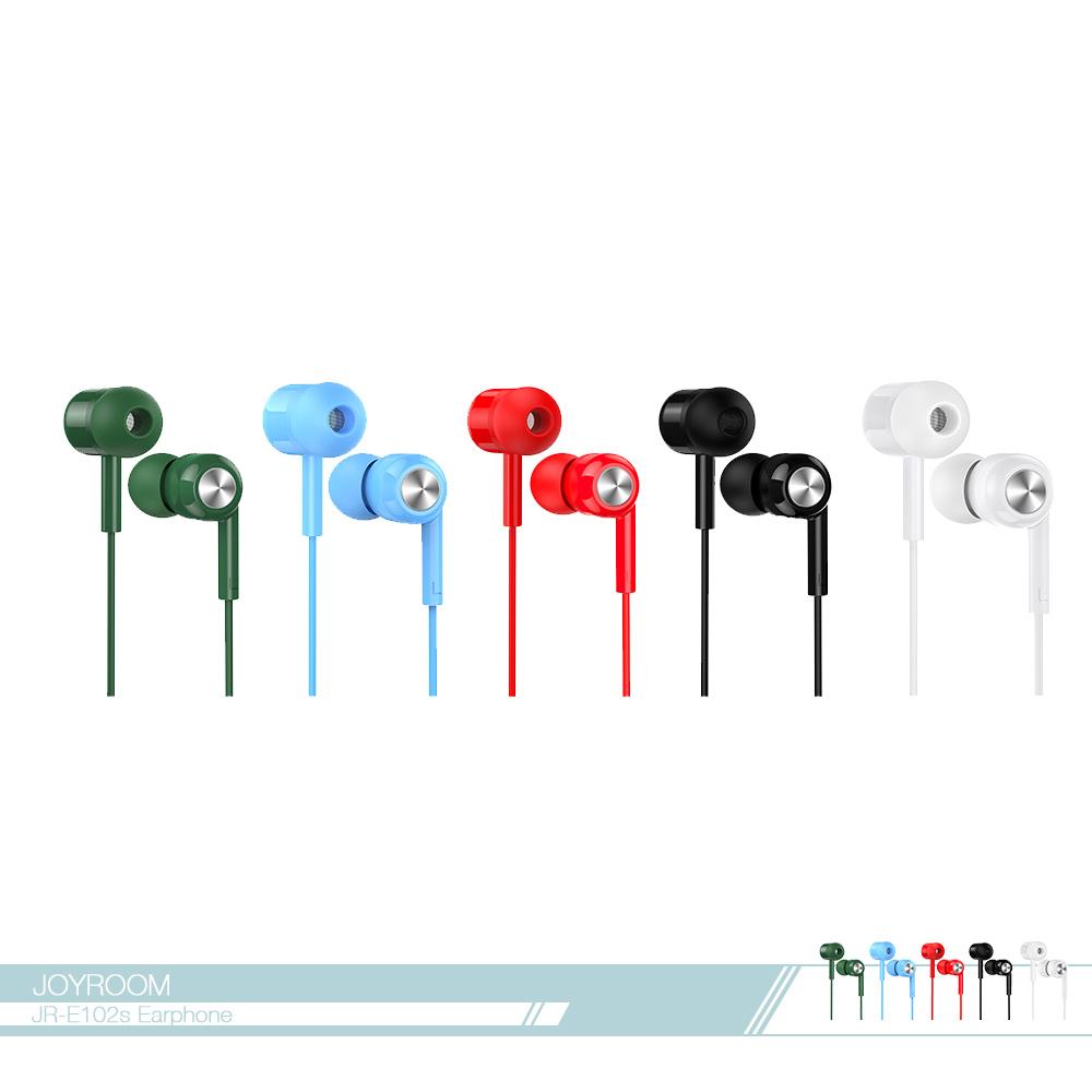 JOYROOM機樂堂 風彩綻放 入耳式耳機 (E102S) 3.5mm各廠牌適用/ 線控接聽鍵/ 免持聽筒
