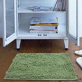 任選【香奈爾】極超細纖維雪尼爾防滑踏墊-草綠色(40x60cm)