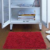 任選【香奈爾】極超細纖維雪尼爾防滑踏墊-紅色(40x60cm)