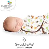 美國 Summer Infant SwaddleMe 嬰兒包巾 【純棉薄款- 動物園】大號 - 可調式懶人包巾