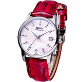 MIDO Baroncelli Big Lady 機械女用時尚鑽錶(M0072071610600)