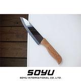 SOYU 料理大師黑色鏡面抗菌陶瓷刀【竹柄5吋】