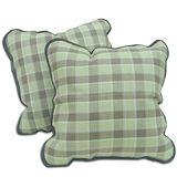 任選↘●范登伯格●天然紙纖抱枕系列-格紋(二入)