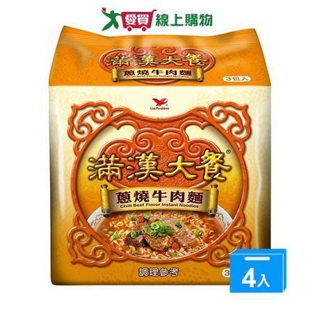 統一滿漢大餐蔥燒牛肉麵*12包(箱)