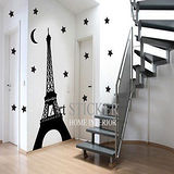 Art STICKER璧貼 ● 巴黎鐵塔-第一代艾菲爾-Night version