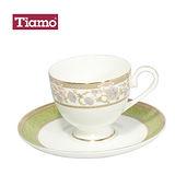 Tiamo 骨瓷咖啡杯盤組2客200cc-佛羅倫薩(HG3216)