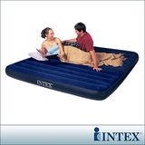 【INTEX】雙人超大型植絨充氣床墊(寬183cm)
