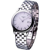 LONGINES 旗艦系列 男用石英腕錶 白面L47164126