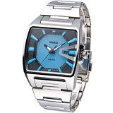ALBA WIRED HYBRID 原創潮流 時尚科技太陽能腕錶V145-X014A藍色AUA017X