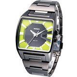 ALBA WIRED HYBRID 原創潮流 時尚科技太陽能腕錶V145-X014M綠色面款AUA015X