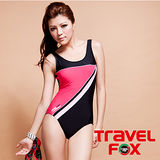 【TRAVELFOX 旅狐】基本款連身三角泳衣加大碼C9711-3L