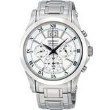 SEIKO Premier 大日期計時腕錶(7T04-0AA0S)-銀