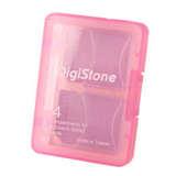 DigiStone 4片裝記憶卡多功能收納盒/ 粉色(1個)