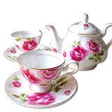【秘密花園】南瓜瓷壺+4茶杯組