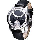 EPOS 三針一線 手上鍊機械腕錶3379.688.20.55.25黑色