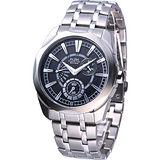 ALBA FLAGSHIP 星期逆跳時尚腕錶AQ7045X黑色 VD87-X005D