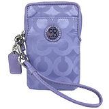 COACH JULIA 緞面iPhone袋(粉紫)