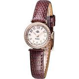 Rosemont 茶香玫瑰系列 超薄時尚錶TRS010-05RG-LE-BR咖啡色