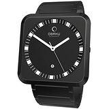 OBAKU 簡極印象時尚品味腕錶(全黑)