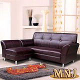 MNJ-時尚鱷魚皮紋L型獨立筒沙發(3色可選)