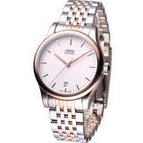 ORIS 古典系列 高雅紳士 機械錶73375784351MB雙色款