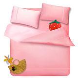 ★台灣製造★義大利La Belle《前衛混搭》雙人四件式被套床包組-甜粉x淺粉