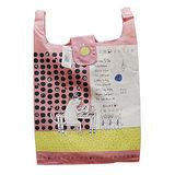 【Noafamily日本諾亞家族】鋼琴貓折疊式購物袋(粉紅色)