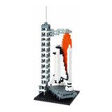 《Nano Block迷你積木》NBH-014 太空中心的太空梭(亞特蘭提斯號)
