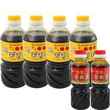 【屏大】非基改6瓶超值組合(薄鹽醬油X4+醬油膏X2)