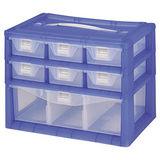 【DOLEDO】手提分類收納整理盒- 二+一層