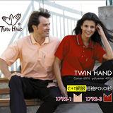 【TWIN HAND】粉橘色C+T網眼短袖POLO衫(P30-1792-1)