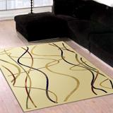 范登伯格-晶湛花容亮彩絲質感地毯-水舞(咖米兩色可選)140x190cm
