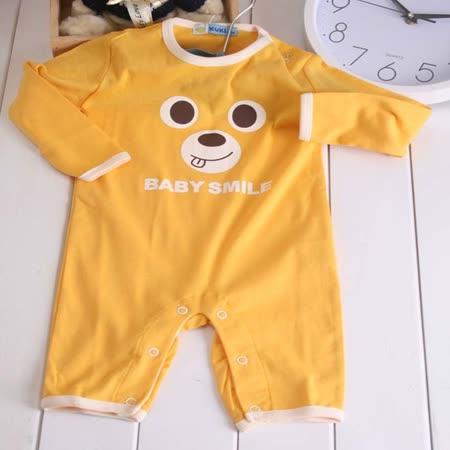 (購物車)KUKI台灣製造長袖連身包屁衣~嬰幼兒童裝~嬰幼兒內著~k17298~黃 -friDay購物 x GoHappy