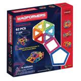 【MAGFORMERS】磁性建構片-62片裝--贈(磁片專用車輪架+摩天輪架包)