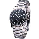 Revue Thommen 小秒針紳士 機械腕錶-(15001.2137)黑色