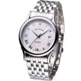 Revue Thommen 華爾街系列時尚機械錶-銀白色/37mm20002.2132