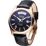 EPOS DAY-DATE 都會紳士 機械腕錶-(3410.142.24.15.25)玫瑰金色