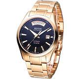 EPOS DAY-DATE 都會紳士 機械腕錶-(3410.142.24.15.34)玫瑰金色