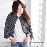 Lavender 圍衣罩衫-典雅條紋系列-灰色