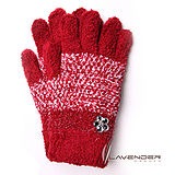 Lavender-典雅晶鑽雙層手套-紅色